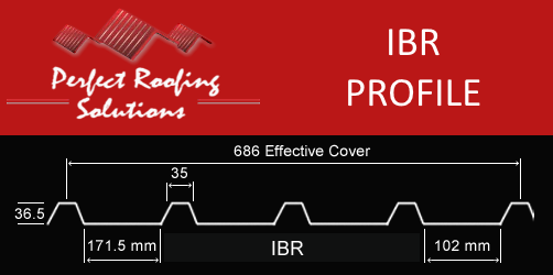 IBR Steel Roofing Profile Measurements Sizes Harare Zimbabwe